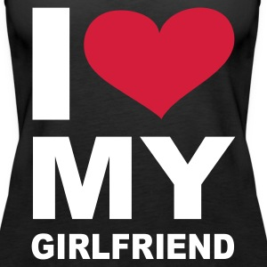 Schwarz I love my girlfriend - eushirt.com Tops - Women's Premium Tank Top