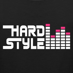 Black hard style hardstyle equalizer EN Men's T-Shirts - Men's Premium Tank Top