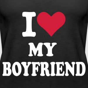 Schwarz I love my boyfriend Tops - Frauen Premium Tank Top