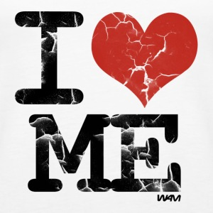 Weiß i love me vintage by wam Tops - Frauen Premium Tank Top