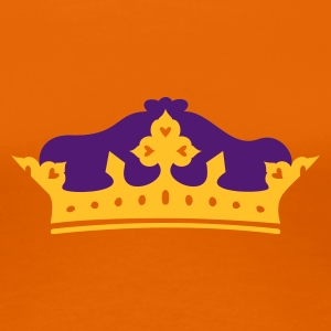 Golden orange Krone / crown (2c) Women's T-Shirts - Women's Premium T-Shirt