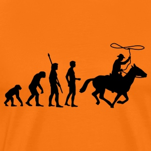 evolution_cowboy T-shirts - Mannen Premium T-shirt