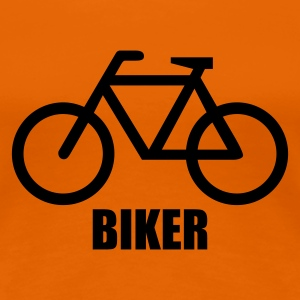 Orange Biker © T-Shirts - Vrouwen Premium T-shirt