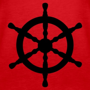 Red Nautical Wheel Tops - Women's Premium Tank Top