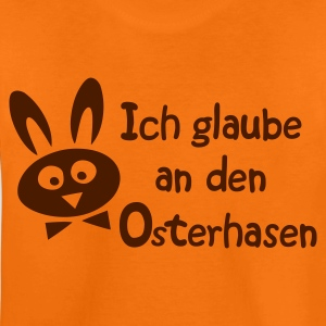 Orange Ich glaube an den Osterhasen - Hase, Ostern Kinder T-Shirts - Teenager Premium T-Shirt