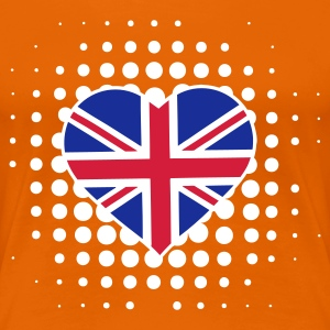 Orange flaggenherz T-Shirts - Frauen Premium T-Shirt