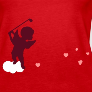 Red Amor with golf Club Tops - Women's Premium Tank Top