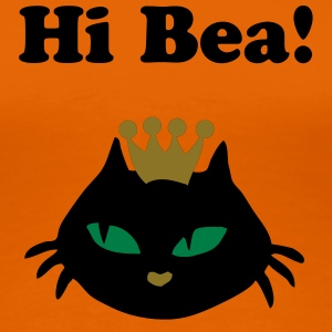 Retro Cat queen Bea's colleague - Vrouwen Premium T-shirt