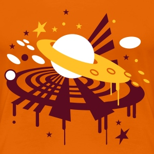 Orange Saturn Women's T-Shirts - Women's Premium T-Shirt