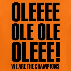 Oranje Ole ole, we are the champions 1clr Kinder shirts - Teenager Premium T-shirt
