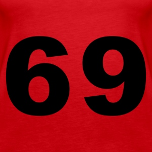 Red Number - 69 Tops - Women's Premium Tank Top
