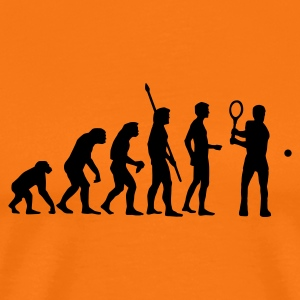 evolution_tennis_c_1c T-shirts - Mannen Premium T-shirt