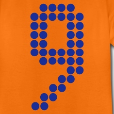 Orange 9 dots football / Punkte Fußball - eushirt.com Kinder T-Shirts