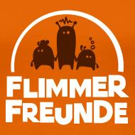 Motiv ~ Frauen Basis-T-Shirt Orange Flimmerfreunde