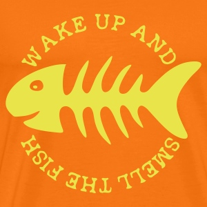 Goldorange Wake up and ... T-Shirts - Männer Premium T-Shirt