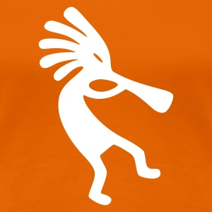 Orange Kokopelli T-shirts - Dame premium T-shirt
