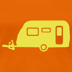 Orange Camping T-Shirts - Frauen Premium T-Shirt