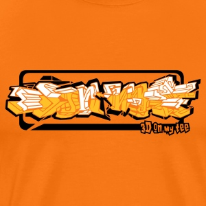 Golden orange 3d_on_my_tee Men's T-Shirts - Men's Premium T-Shirt