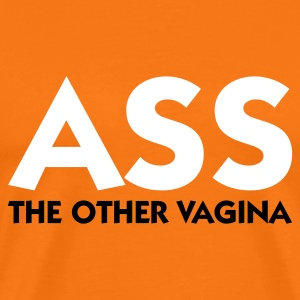 Arancio dorato Ass The Other Vagina (2c) T-shirt - Maglietta Premium da uomo