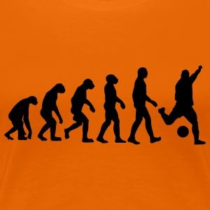 Goldorange Evolution Fussball Soccer T-Shirts - Frauen Premium T-Shirt
