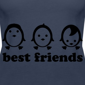 Türkis best friends - line Tops - Frauen Premium Tank Top