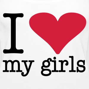 I love my girls  - Frauen Premium Tank Top