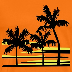 Surfing Surfer Palm Trees Caribbean Hawaii T-Shirt - Men's Premium T-Shirt