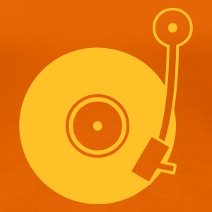 Golden orange Vinyl Turntable Women's T-Shirts - Women's Premium T-Shirt