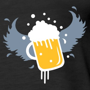 Black Beer glass with beer in the wings for Beer Festival visitors. Tops - Women's Premium Tank Top