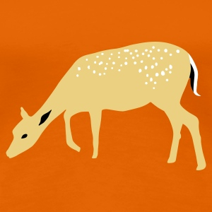 Golden orange Roe deer Rehkids Women's T-Shirts - Women's Premium T-Shirt