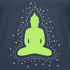 Petrol The aura of the Buddha Tops - Women's Premium Tank Top