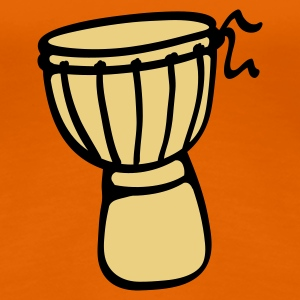 Orange Djembe Trommel T-Shirts - Frauen Premium T-Shirt