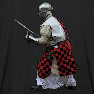 Black Medieval knight battle  Men's T-Shirts - Men's Premium Tank Top