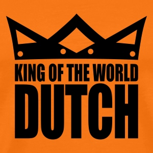 Golden orange Dutch king of the world II Men's T-Shirts - Men's Premium T-Shirt