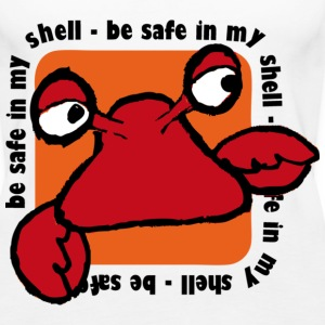 Wit Be safe in my shell Tops - Vrouwen Premium tank top