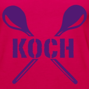 Pink Koch Tops - Frauen Premium Tank Top