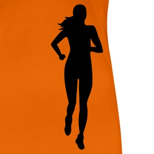 Orange Laueferin frontal T-Shirts - Frauen Premium T-Shirt