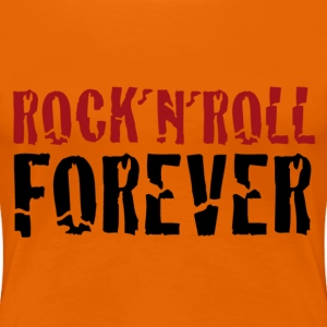 orange redblack rock and roll forever - Frauen Premium T-Shirt
