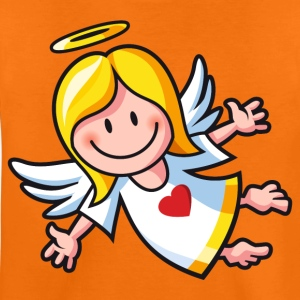Orange vl064c_engel2_4c Kinder T-Shirts - Teenager Premium T-Shirt