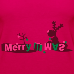 Merry X Mas Reindeer Tops - Women's Premium Tank Top