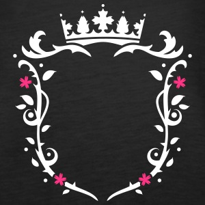floral emblem with a crown Tops - Women's Premium Tank Top