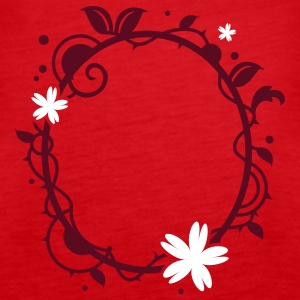 Flower frame Tops - Women's Premium Tank Top