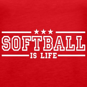 softball is life deluxe Top - Canotta premium da donna