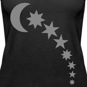 Black moon and stars Tops - Women's Premium Tank Top