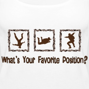 What's Your Favorite Position? Brown Tops - Women's Premium Tank Top