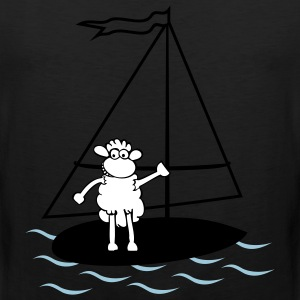 Surfing sheep T-Shirts - Men's Premium Tank Top