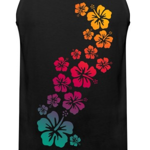 BALI HIBISCUS BLOOMS COLOURED | Muskelshirt - Männer Premium Tank Top