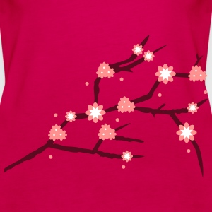A branch with cherry blossoms  Tops - Women's Premium Tank Top