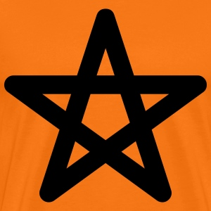 pentagram star halloween T-shirts - Herre premium T-shirt