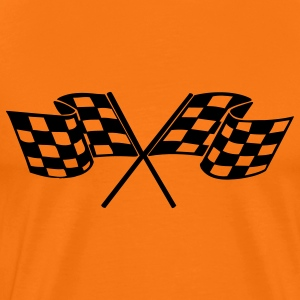 racing flags sport T-Shirts - Men's Premium T-Shirt